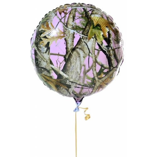 Pink Mossy Oak Mylar Balloon