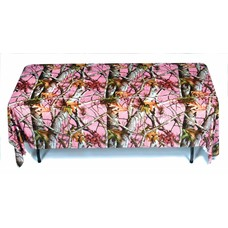 Pink Mossy Oak Plastic Tablecover