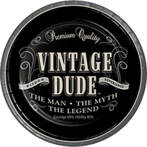"*Vintage Dude Dessert 7"" plates 8ct"