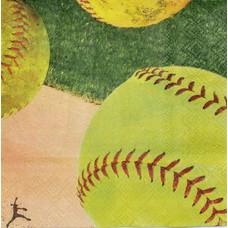 Softball Beverage Napkin