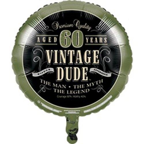 *Vintage Dude 60 Birthday Mylar Balloon