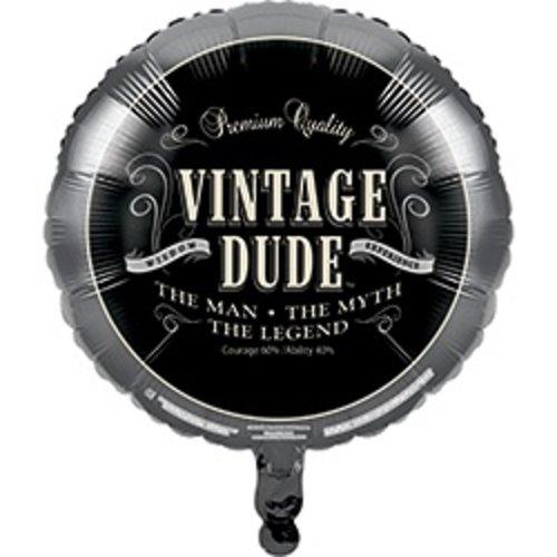 *Vintage Dude Birthday Mylar Balloon
