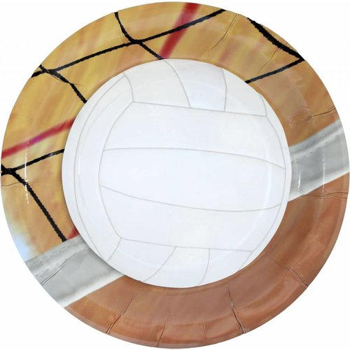 """*Volleyball 9"""" Dinner Plates 8ct"""