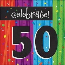 *Milestone 50 Lunch Napkins 16ct