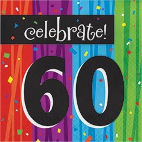 *Milestone 60 Lunch Napkins