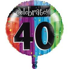 *Milestone 40 Mylar Balloon