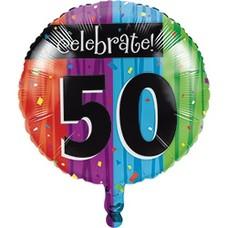 *Milestone 50 Mylar Balloon