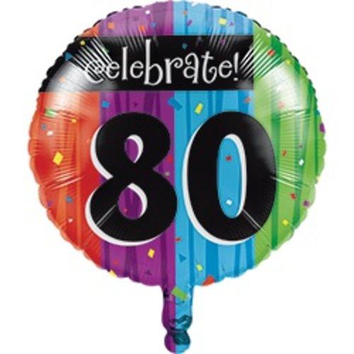 *Milestone 80 Mylar Balloon