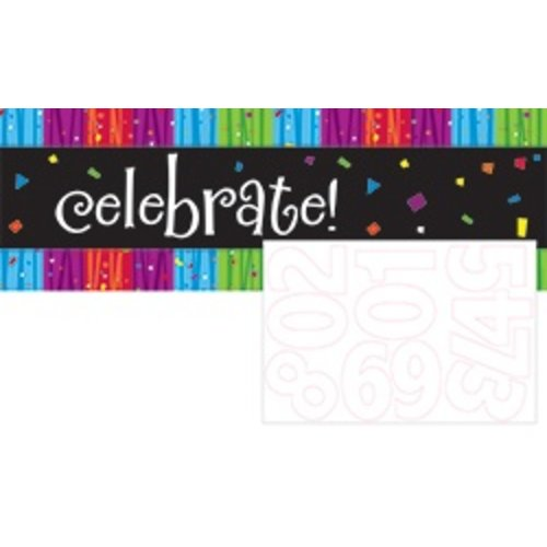 *Milestone Giant Banner with Number Stickers