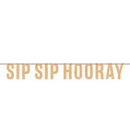 *Sip Sip Hooray Letter Banner