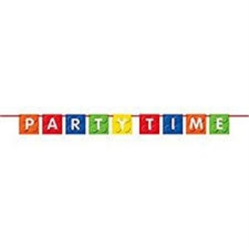 "*Building Blocks ""Party Time"" Flag Banner"