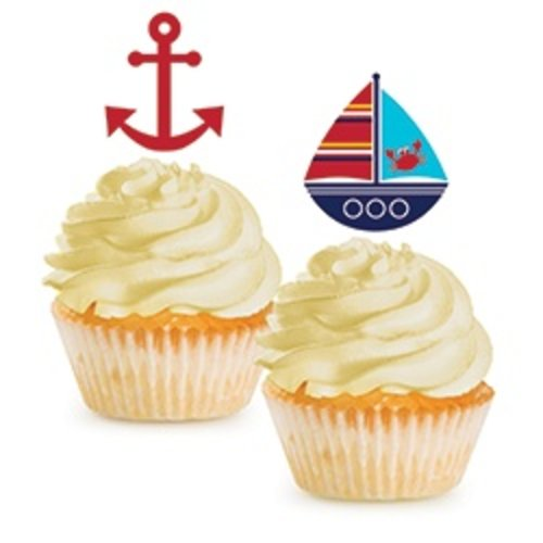 *Ahoy Matey Cupcake Toppers 12ct
