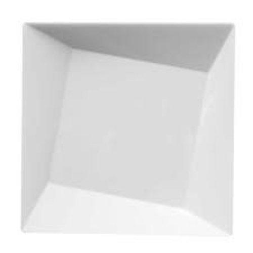 "*White Twist 10.75"" Plastic Plates10ct"