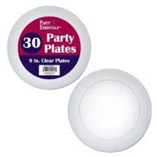 "*Clear 9"" Party Plates 30ct"