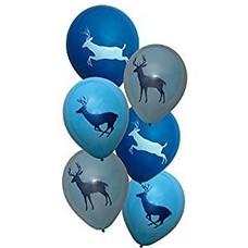 Buck Light Blue Latex Balloons
