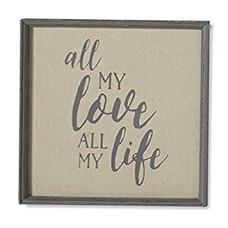 All My Love Burlap Framed Word Art