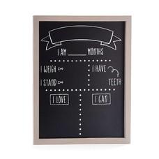 Baby Month Milestone Chalkboard