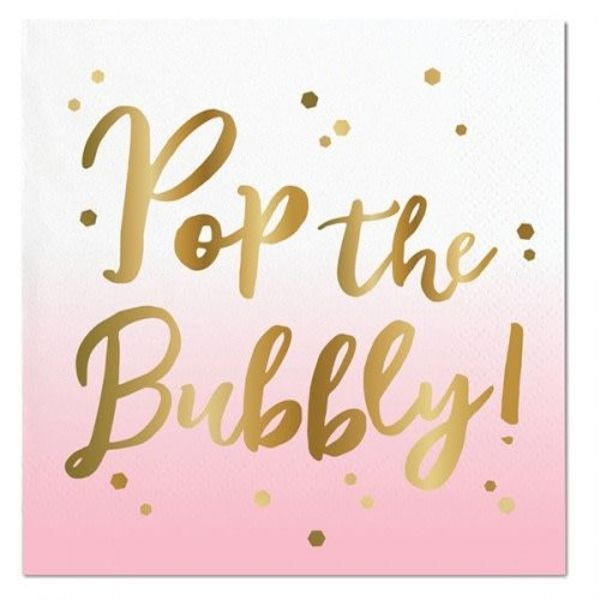Pop the Bubbly Beverage Napkins