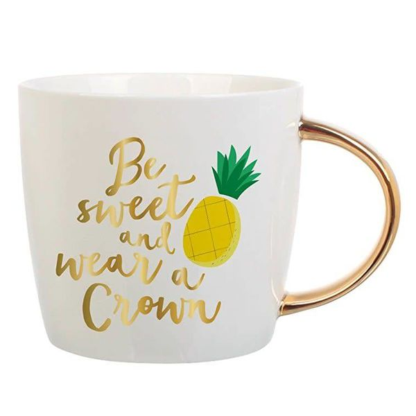 Be Sweet Wear a Crown Pineapple Coffee Mug
