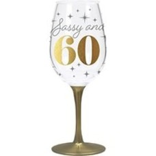 CR Gibson Sassy & 60 Acrylic Wine Glass