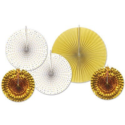 Decorative Fans Assorted Gold