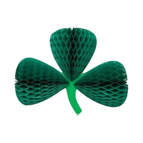 *St. Patrick's Day Clover Honeycomb Cutout