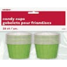 *Candy Cups Green Paper 16ct