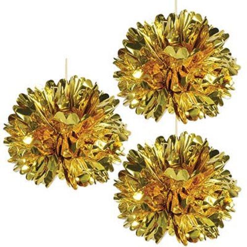 Metalic Gold Fluff Balls