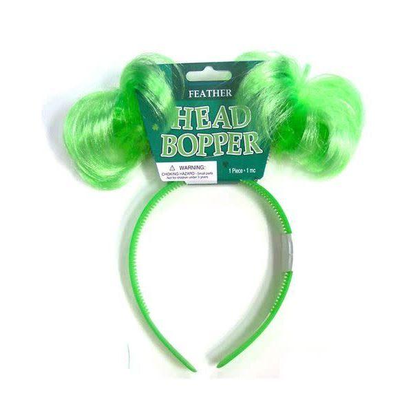 St. Patrick's Day Green Head Bopper