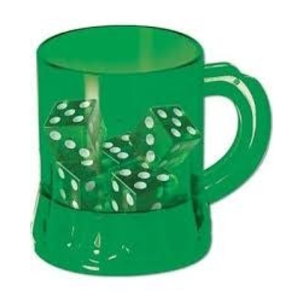 Green St. Patrick's Day Mug with Dice