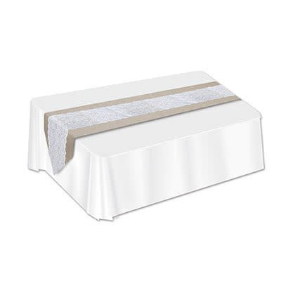 Lace & Burlap Table Runner