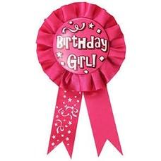 *Birthday Girl Pink Award Ribbon