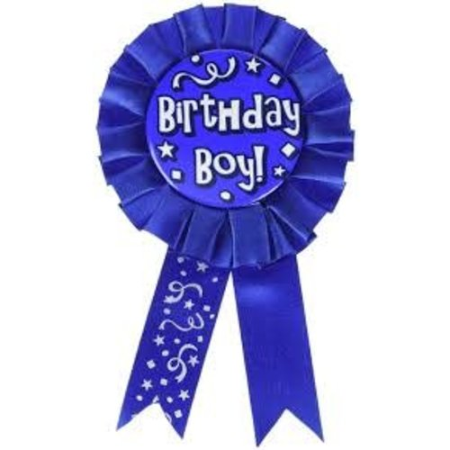 *Birthday Boy Blue Award Ribbon