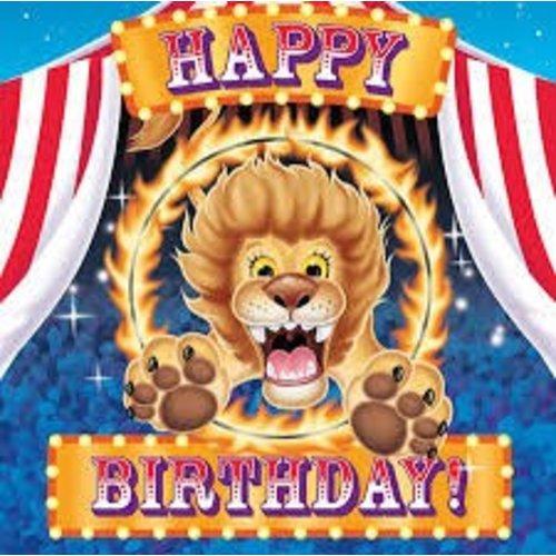 *Big Top Happy Birthday Lunch Napkins
