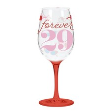 CR Gibson Forever 29 Acrylic Wine Glass