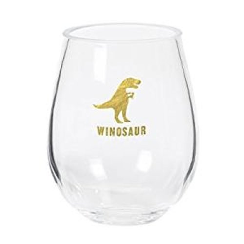CR Gibson Winosaur Steamless Acrylic Wine Glass