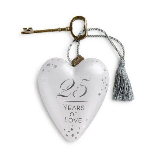 25 Years of Love Art Heart