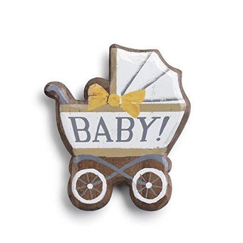 Baby Carriage Magnet Wood Token