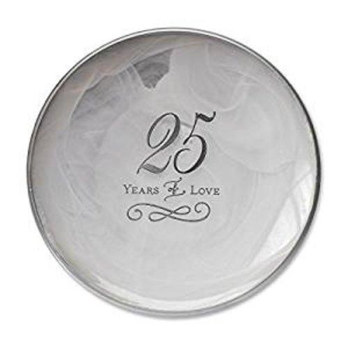 25th Anniversary Decorative Plate