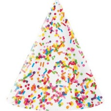 Sprinkles Adult Party Hats 8ct