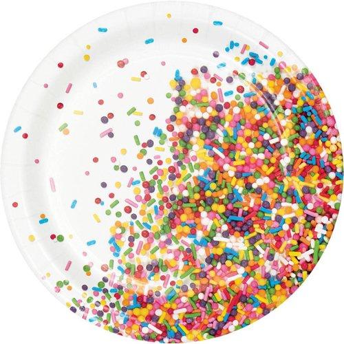 "Sprinkles Birthday 7"" Dessert Plate"