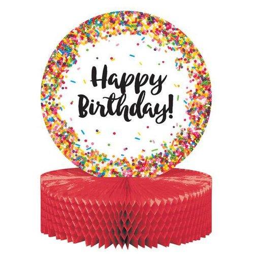 Sprinkles Birthday Honeycomb Centerpiece