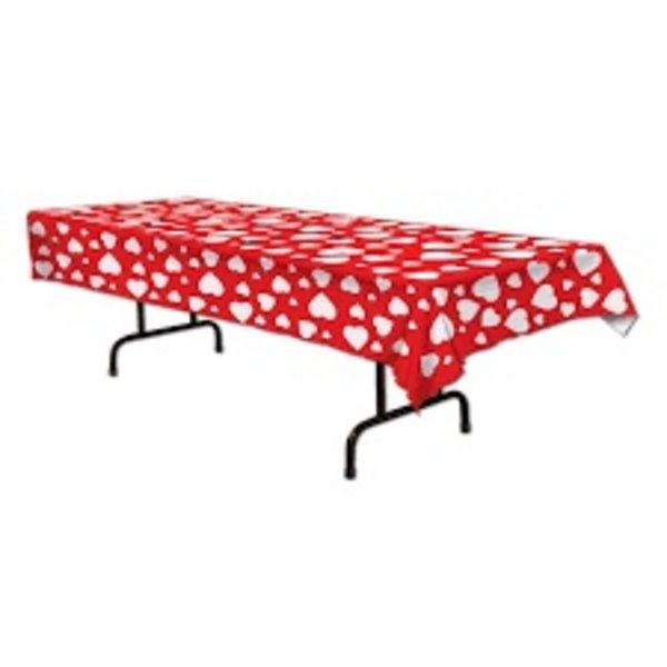 Heart All Over Print Plastic Tablecover