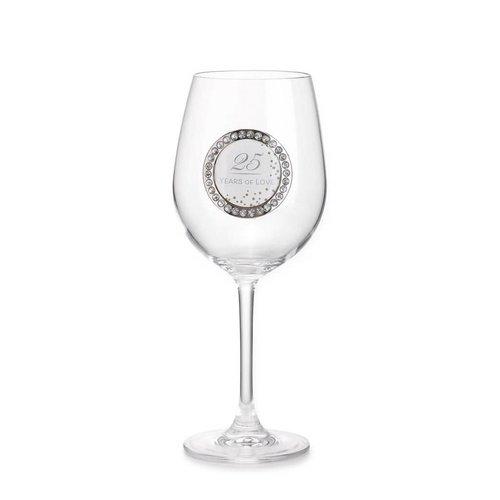 25 Years Wine Glass