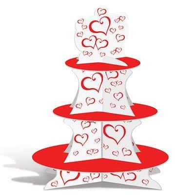 Valentine Red Heart Cupcake Stand
