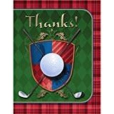 *Tee Time Golf Thank You Notes 8ct
