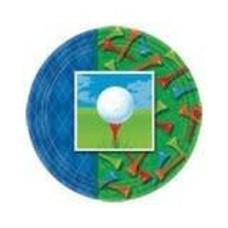 "*Tee Time Golf 9"" Plates"