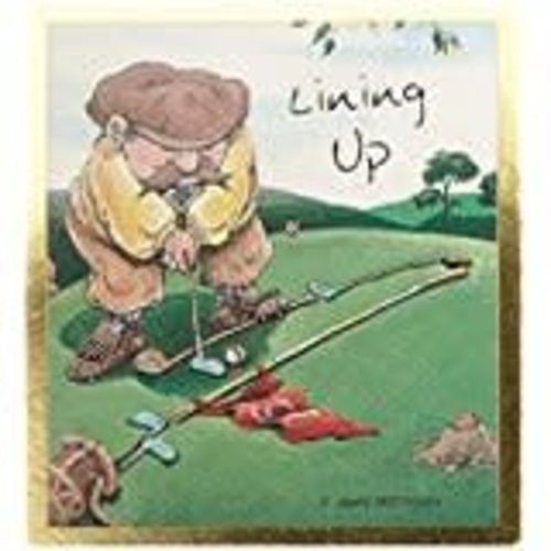 *Lining Up Golf Magnetic Bookmark