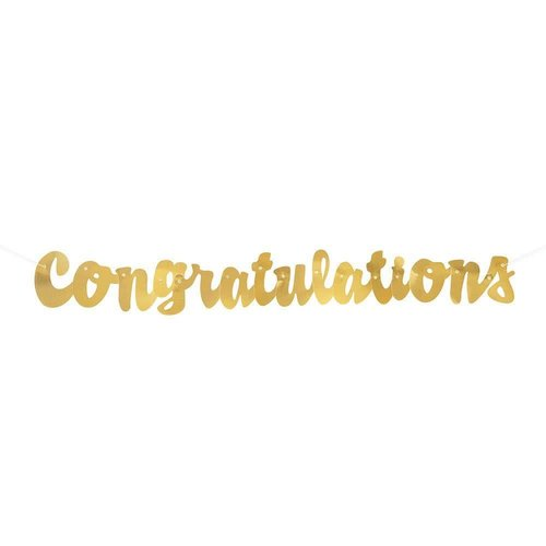 Gold Script Congratulations Banner