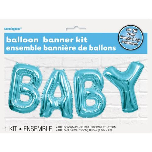 "Blue ""BABY"" Balloon Letter Kit"